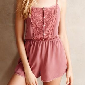 Anthropologie Eloise Lace Romper